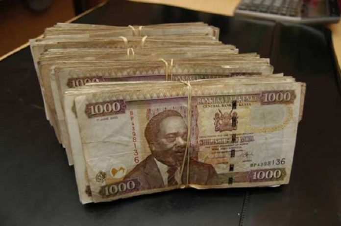 CBK old 1000 shilling notes.